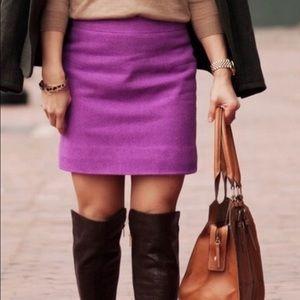 Jcrew Sz 4 Hot Pink Mini Wool Lined Skirt 14275